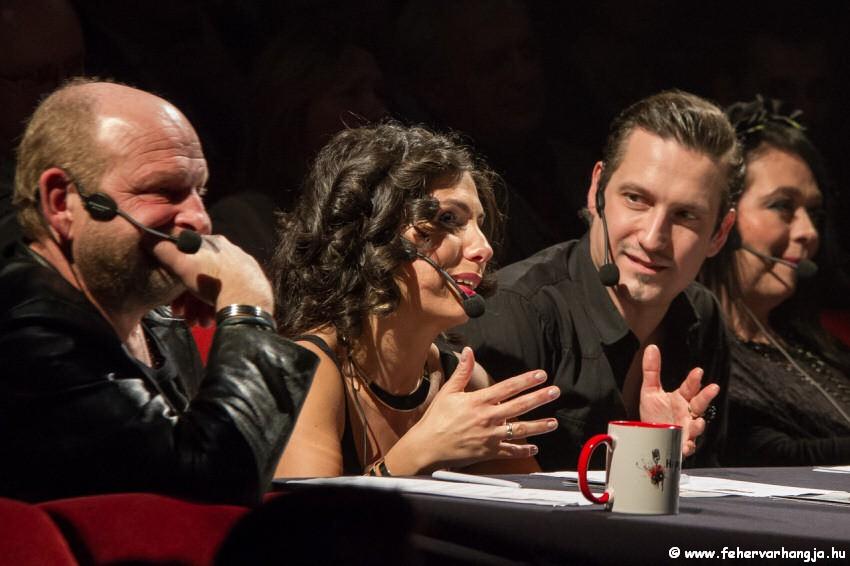 A verseny zsűrije: Vörös Tamás, Váradi Eszter Sára, Pély Barnabás és Kelemen Angelika(Fotó: Igari Balázs)