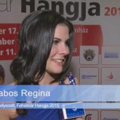 Fehérvár Hangja 2015 – Zabos Regina a győztes