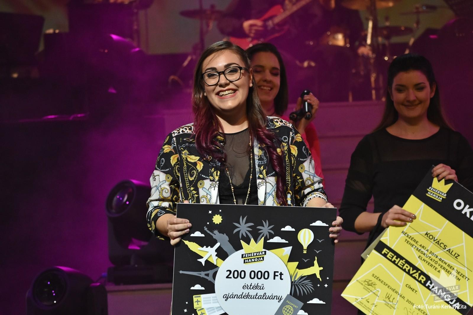A zsűri döntésének értelmében a 2019. évi énekes tehetségkutató III. helyezettje Nagy Gréta, II. helyezettje Matern Vanda lett, a Fehérvár Hangja címet pedig Kovács Aliz nyerte el